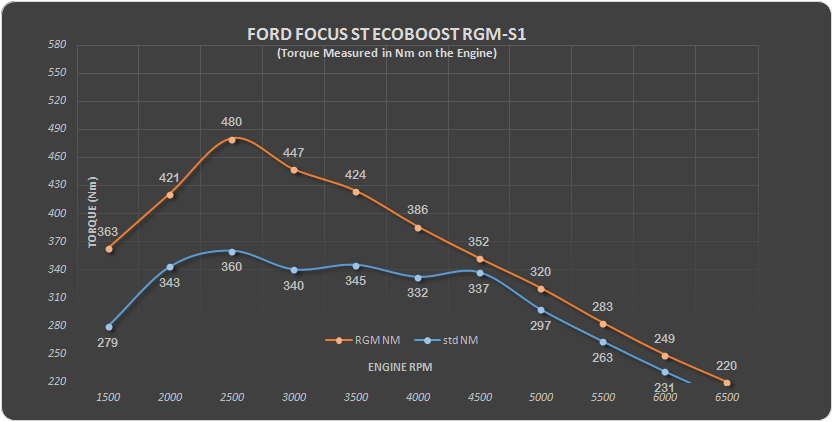 Ford focus Eco RGM S1 Nm