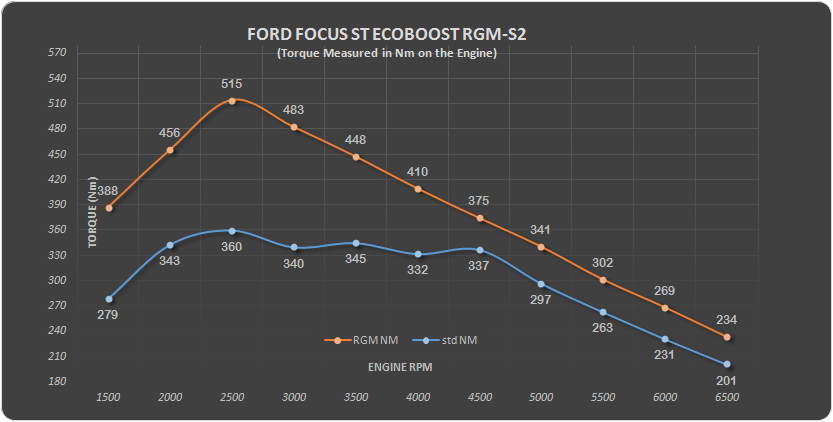 Ford focus Eco RGM S2 Nm